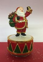 Musical Turning Father Christmas Ornament with Bell ~ Plays Music!